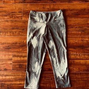Nike Dr-Fit Gray Marbled Crop Leggings